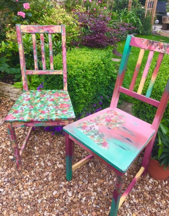 FLAMINGO CHAIRS - SOLD - £50 for pair